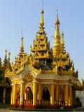 Temples of Shwedagon Pagoda complex, Yangon, Myanmar Royalty Free Stock Photos