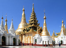 The temples at Shwedagon Pagoda Royalty Free Stock Photo