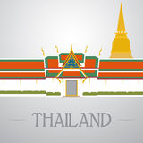 Temples and stupa in thailand Stock Images
