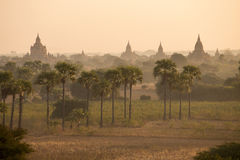 The Temples sunset time of Bagan. Mandalay, Myanmar Royalty Free Stock Image