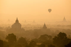 The Temples sunset time of Bagan. Mandalay, Myanmar Royalty Free Stock Photography
