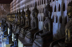 Temples on top of the mountain in Thailand Royalty Free Stock Images