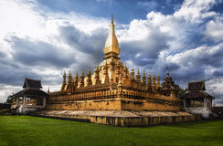 Temples on top of the mountain in Thailand Stock Photo