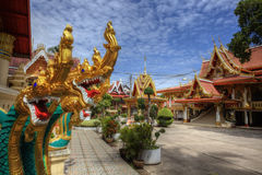 Temples on top of the mountain in Thailand Royalty Free Stock Image