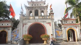 Temples in Vietnam. The temples in Vietnam, haiduong stock video footage