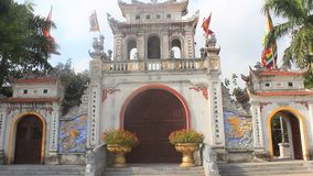 Temples in Vietnam. The temples in Vietnam, haiduong stock video