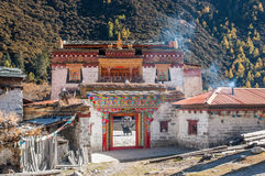 Temples in yading Royalty Free Stock Photos