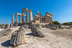 Templet av Aphaia i Grekland arkivbild