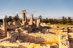 Templet av Apollo på Kourion Limassol område, Cypern Royaltyfri Fotografi