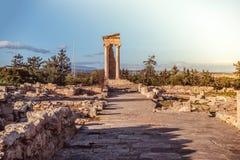 Templet av Apollo på Kourion Limassol område, Cypern Royaltyfri Bild