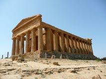 Templet av Concordia, Agrigento, Italien Royaltyfria Foton