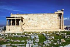 Templet av Erechtheio, Aten, Grekland arkivfoto