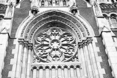 Templet av helgon Olga och Elizabeth, fasaden som är neogothic Fotografering för Bildbyråer