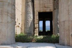 Templet av Hephaestus, forntida marknadsplats av Aten Arkivfoton