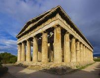 Templet av Hephaistos i Aten, Grekland Royaltyfri Fotografi