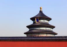 Templet av himmel i Peking royaltyfri bild