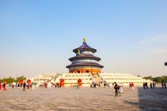 Templet av himmel parkerar platsen Hall av bönen för bra skördar Arkivfoto