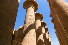Templet av Karnak - Egypten royaltyfri fotografi