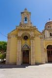 Templet av symbolen av modern av guden som delen av ett komplex av byggnader av Agios Minas Cathedral Fotografering för Bildbyråer