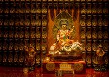 Templet för Buddhatandrelik, 12 September 2017, Singapore Royaltyfri Fotografi