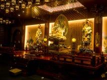 Templet för Buddhatandrelik, 12 September 2017, Singapore Royaltyfria Foton