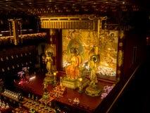 Templet för Buddhatandrelik, 12 September 2017, Singapore Fotografering för Bildbyråer