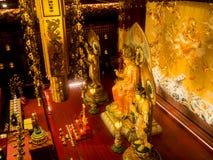 Templet för Buddhatandrelik, 12 September 2017, Singapore Royaltyfria Bilder