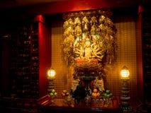 Templet för Buddhatandrelik, 12 September 2017, Singapore Arkivbild