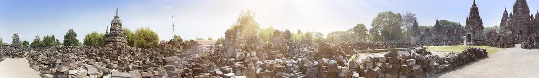Templet fördärvar den Chandi Sewu templet borobodur indonesia java Royaltyfria Foton