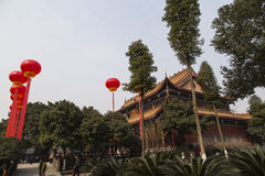 Templet i chengdu, porslin royaltyfria foton