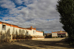 Templet i Tibet Arkivfoto