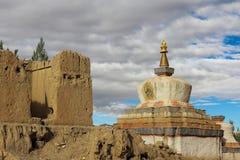 Templet i Tibet Arkivbild