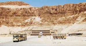 Templet i vaggar av drottningen Hatshepsut, Egypten fotografering för bildbyråer