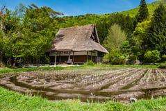 Templet Shirakawa-går in Royaltyfri Fotografi