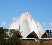 Templet som byggs i form av en lotusblommablomma Fotografering för Bildbyråer