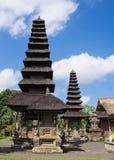 Templet Taman Ayun på ön av Bali Royaltyfri Fotografi