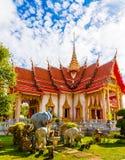 Templet Wat Chalong Royaltyfri Fotografi