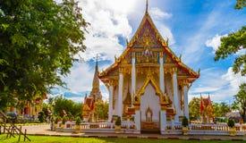 Templet Wat Chalong Royaltyfri Foto