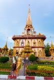 Templet Wat Chalong Arkivfoton