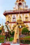 Templet Wat Chalong Royaltyfri Bild