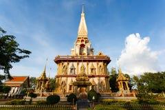 Templet Wat Chalong Arkivfoto