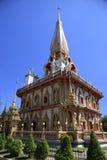 Templet Wat Chalong, Phuket, Thailand fotografering för bildbyråer