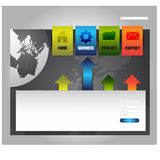 Templete de site Web Vecotor EPS10 Image stock