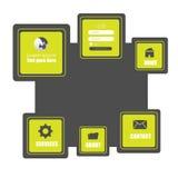Templete de site Web Vecotor EPS10 Images libres de droits