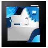 Templete de site Web Vecotor EPS10 Image libre de droits