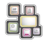 Templete del sito Web Vecotor EPS10 Fotografia Stock
