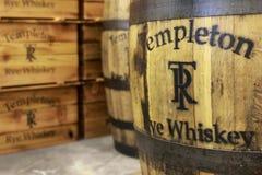 Templeton黑麦威士忌酒 免版税库存照片