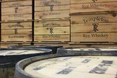 Templeton黑麦威士忌酒 免版税库存图片