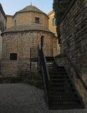 Templetto Santa Croce à vieux Bergame Photographie stock libre de droits