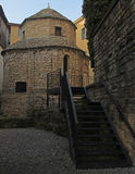 Templetto Santa Croce в старом Бергаме Стоковая Фотография RF